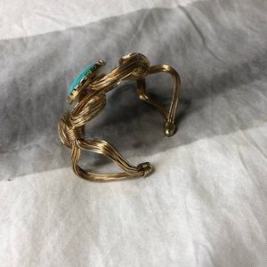Lilly Pulitzer Jewelry - Lilly Pulitzer turquoise and gold cuff